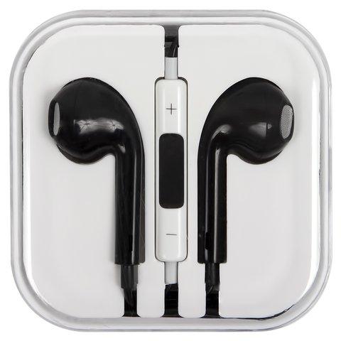 Гарнитура для мобильных телефонов Apple iPhone 4, iPhone 4S, iPhone 5, iPhone 5C, iPhone 5S, iPhone 6, iPhone 6 Plus, черная