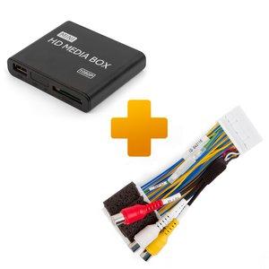 Мультимедийный Full HD-плеер и кабель подключения для мониторов Toyota Touch 2 / Entune