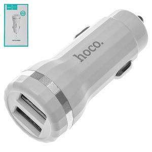 Автомобільний зарядний пристрій Hoco Z27, 2 USB виходи 5В 2,4А , біле