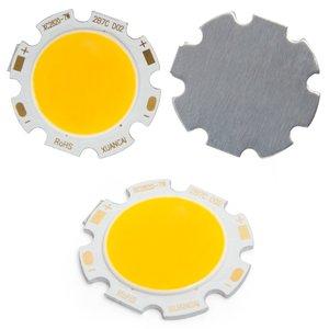 COB LED Chip 7 W (warm white, 650 lm, 28 mm, 300 mA, 21-23 V)