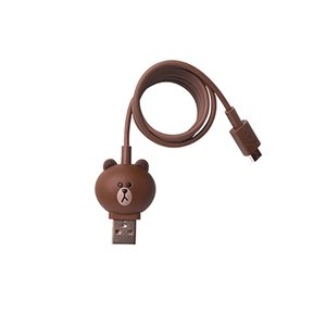 Micro-USB 5-pin Smartphone Connection Cable (Line Friends – Brown)