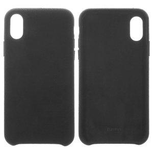 Case Baseus compatible with iPhone X, iPhone XS, (black, Super Fiber, plastic) #WIAPIPH58-YP01