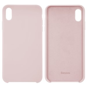 Case Baseus compatible with iPhone XS Max, (pink, Silk Touch, plastic) #WIAPIPH65-ASL04
