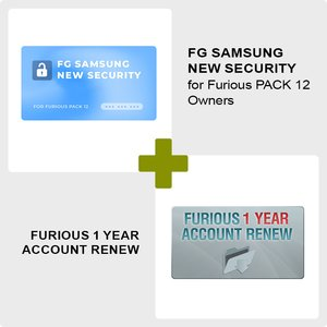 Furious 1 Year Account Renew + Furious PACK 12 FG Samsung New Security Unlock