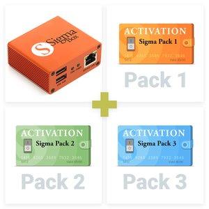 Sigma Box с набором кабелей + Активации Pack 1, 2, 3 для Sigma