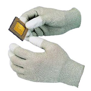 Антистатические перчатки с полеуретановыми пальцами Goot WG-3M (65х185мм)