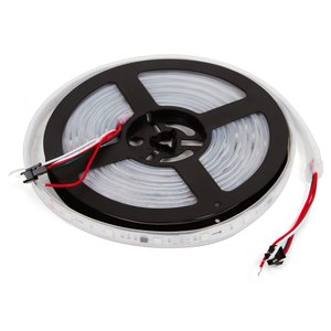 Світлодіодна стрічка RGB SMD5050, WS2811 (біла, з управлінням, IP67, 12 В, 30 діодів/м, 5 м)