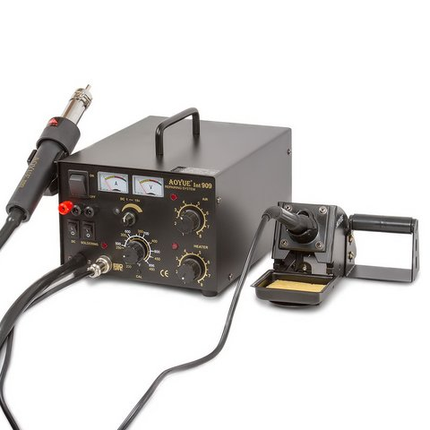 Hot Air Soldering Station AOYUE 909 + Power Supply + Soldering Iron 110V
