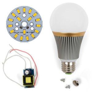 Juego de piezas para armar lámpara LED regulable SQ-Q23 5730 9 W (luz blanca cálida, E27)